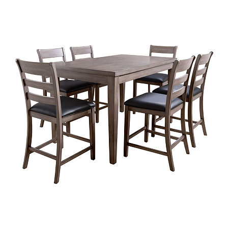 Corlivingcorliving New York Dining Collection 7 Pc Counter Height Rectangular Dining Set One Size Black Dailymail