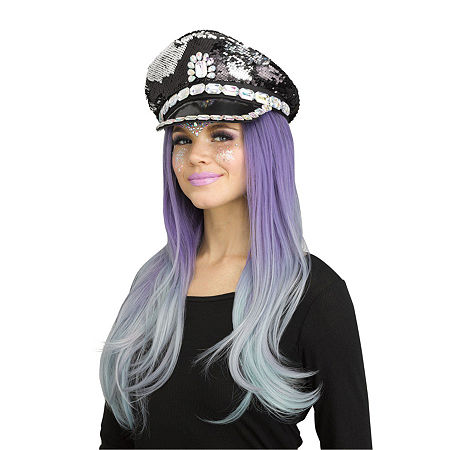 Blinged Out Festival Hat. One Size . Black
