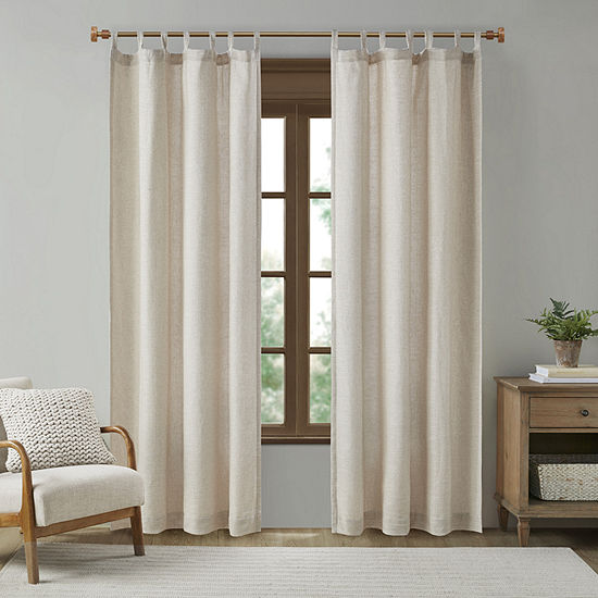 Madison Park Barnet Light-Filtering Tab Top Curtain Panel