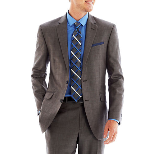 Billy London UK® Gray Basketweave Suit Jacket