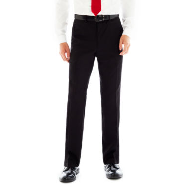Billy London UK® Black Flat-Front Stretch Suit Pants Slim Fit
