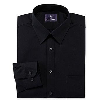 Stafford Men/'s Shirt Point or Button Collar 14.5 16 16.5 17 17.5 18 32//33 34//35