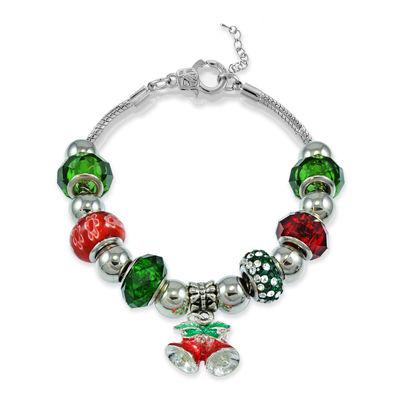 Dazzling Designs™ Silver-Plated Artisan Glass Bells Bracelet