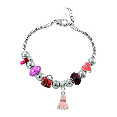 Dazzling Designs™ Silver-Plated Artisan Glass Bead Girly Girl Bracelet
