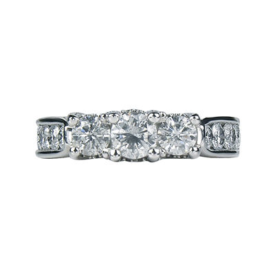LIMITED QUANTITIES 1¾ CT. T.W. Diamond 3-Stone Engagement Ring