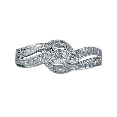 LIMITED QUANTITIES 1/2 CT. T.W. Diamond 3-Stone Ring