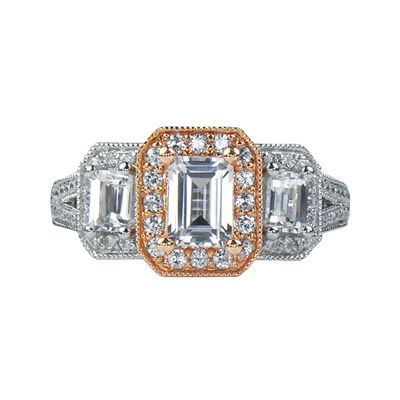 LIMITED QUANTITIES 1¼ CT. T.W. Diamond 3-Stone Two-Tone Ring
