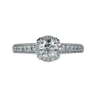 LIMITED QUANTITIES 1 CT. T.W. Diamond Framed Engagement Ring