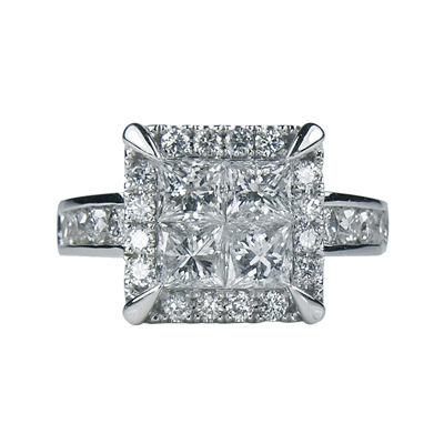 LIMITED QUANTITIES 2½ CT. T.W. Diamond Quad Ring