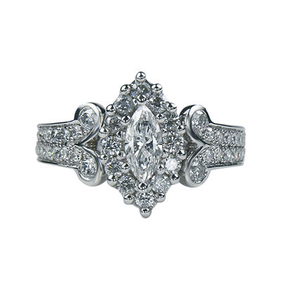 LIMITED QUANTITIES1¼ CT. T.W. Diamond Marquise-Cut Ring