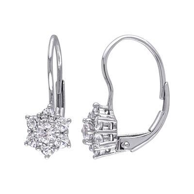 Genuine White Sapphire Earrings