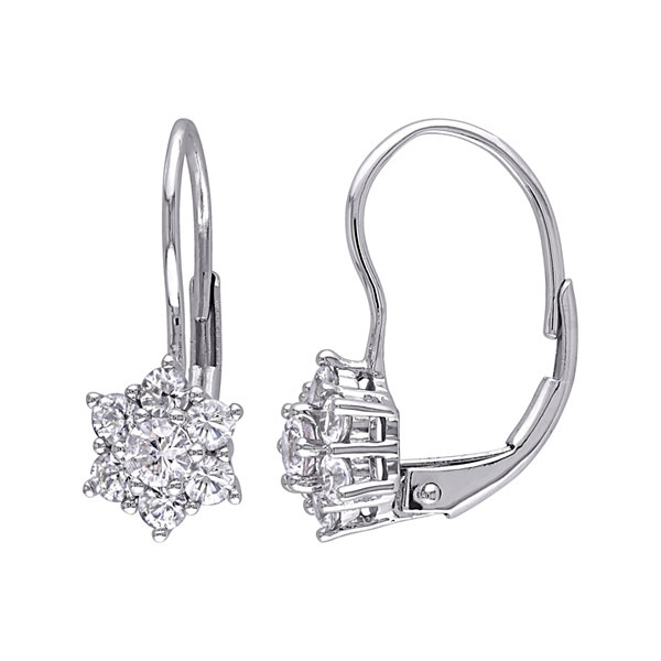 Genuine White Sapphire Earrings