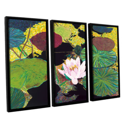 Brushstone Steamy Pond 3-pc. Floater Framed CanvasWall Art