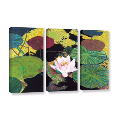 Brushstone Steamy Pond 3-pc. Gallery Wrapped Canvas Wall Art