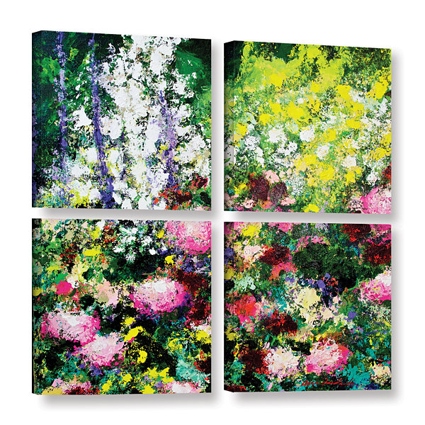 Brushstone Summertime 4-pc. Square Gallery WrappedCanvas Wall Art