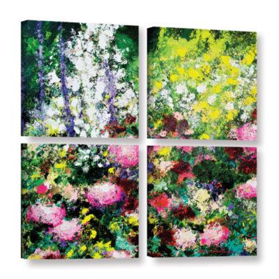 Brushstone Summertime 4-pc. Square Gallery WrappedCanvas Wall Art