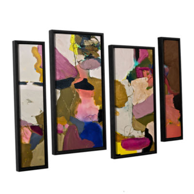 Brushstone Stage Left 4-pc. Floater Framed Staggered Canvas Wall Art