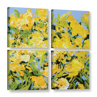 Brushstone Stellenberg Garden 4-pc. Square GalleryWrapped Canvas Wall Art