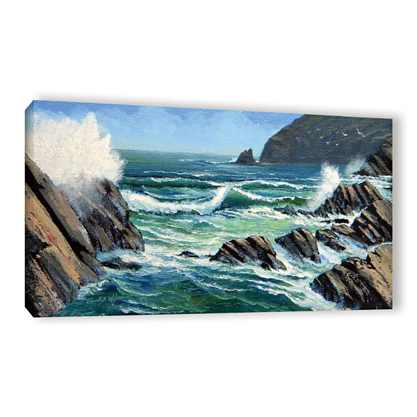 Brushstone Summer Surf Gallery Wrapped Canvas WallArt