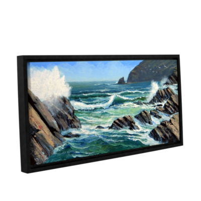 Brushstone Summer Surf Gallery Wrapped Floater-Framed Canvas Wall Art