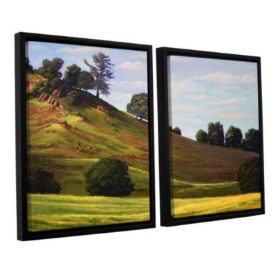 Brushstone Spring Day 2-pc. Floater Framed CanvasWall Art