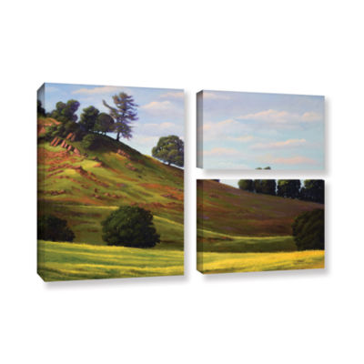 Brushstone Spring Day 3-pc. Flag Gallery Wrapped Canvas Wall Art