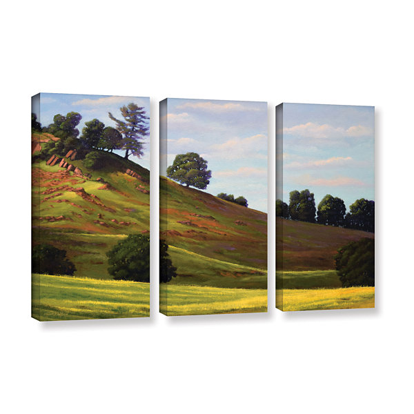 Brushstone Spring Day 3-pc. Gallery Wrapped CanvasWall Art