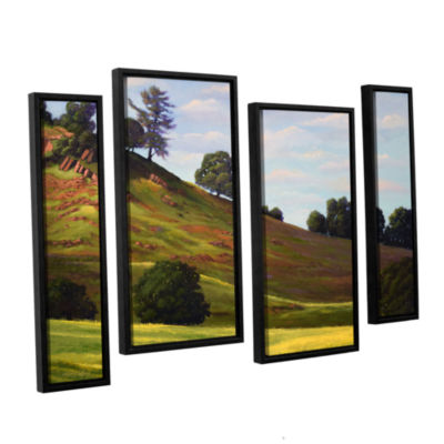 Brushstone Spring Day 4-pc. Floater Framed Staggered Canvas Wall Art