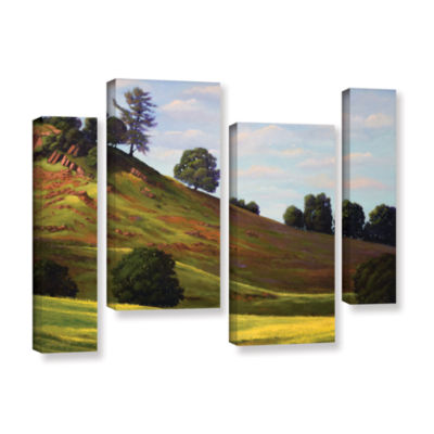 Brushstone Spring Day 4-pc. Gallery Wrapped Staggered Canvas Wall Art