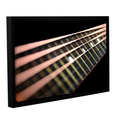 Brushstone String Abstract Gallery Wrapped Floater-Framed Canvas Wall Art