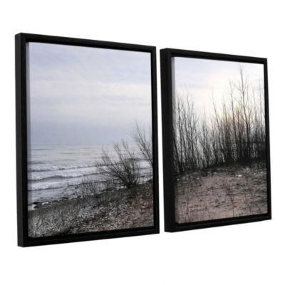 Brushstone Sundown 2-pc. Floater Framed Canvas Wall Art
