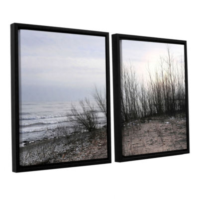 Brushstone Sundown 2-pc. Floater Framed Canvas Wall Art