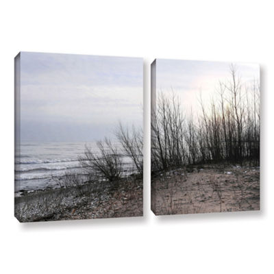 Brushstone Sundown 2-pc. Gallery Wrapped Canvas Wall Art