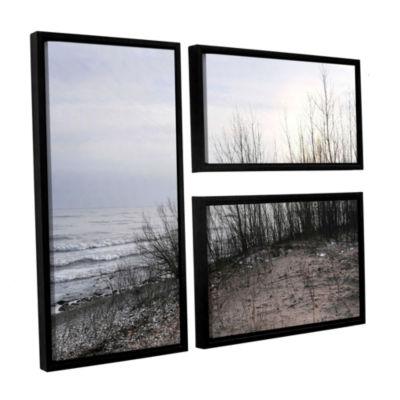 Brushstone Sundown 3-pc. Flag Floater Framed Canvas Wall Art