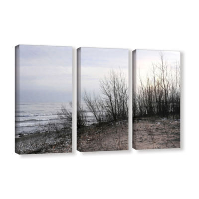 Brushstone Sundown 3-pc. Gallery Wrapped Canvas Wall Art