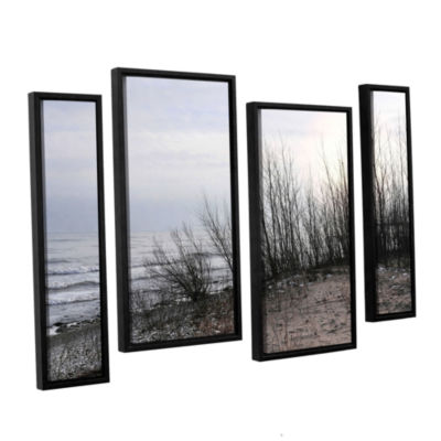 Brushstone Sundown 4-pc. Floater Framed StaggeredCanvas Wall Art