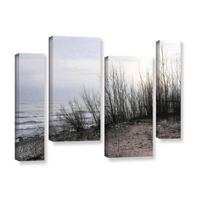Brushstone Sundown 4-pc. Gallery Wrapped StaggeredCanvas Wall Art