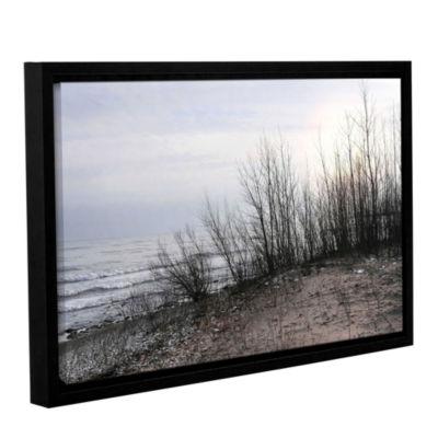 Brushstone Sundown Gallery Wrapped Floater-FramedCanvas Wall Art
