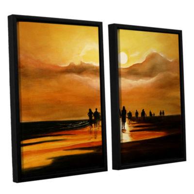 Brushstone Sunart1b 2-pc. Floater Framed Canvas Wall Art