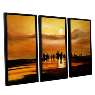 Brushstone Sunart1b 3-pc. Floater Framed Canvas Wall Art