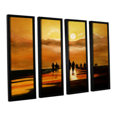 Brushstone Sunart1b 4-pc. Floater Framed Canvas Wall Art
