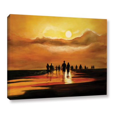 Brushstone Sunart1b Gallery Wrapped Canvas Wall Art