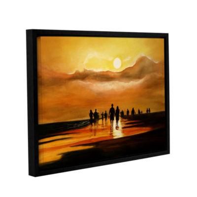 Brushstone Sunart1b Gallery Wrapped Floater-FramedCanvas Wall Art