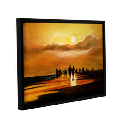 Brushstone Sunart1b Gallery Wrapped Floater-FramedCanvas Wall Art