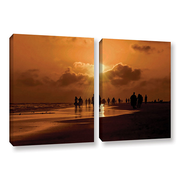 Brushstone Sunart1b 2-pc. Gallery Wrapped Canvas Wall Art