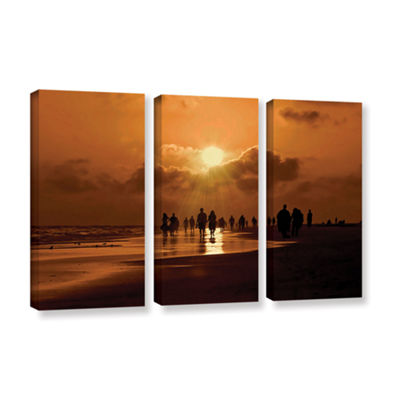 Brushstone Sunart1b 3-pc. Gallery Wrapped Canvas Wall Art