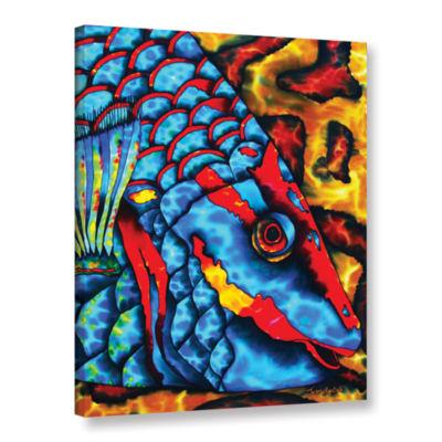 Brushstone Stoplight Parrotfish Gallery Wrapped Canvas Wall Art