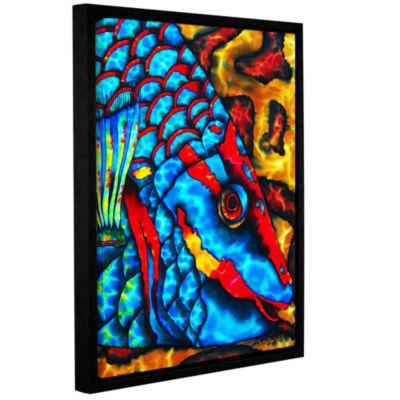 Brushstone Stoplight Parrotfish Gallery Wrapped Floater-Framed Canvas Wall Art