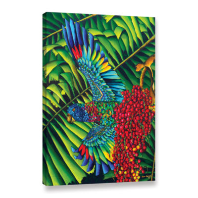 Brushstone St.Lucia Parrot Gallery Wrapped CanvasWall Art