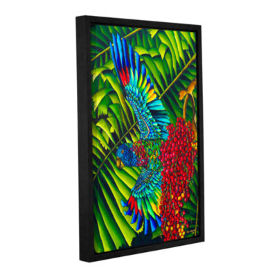 Brushstone St.Lucia Parrot Gallery Wrapped Floater-Framed Canvas Wall Art